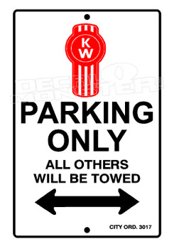 Kenworth Parking All Others Towed Decal Sticker