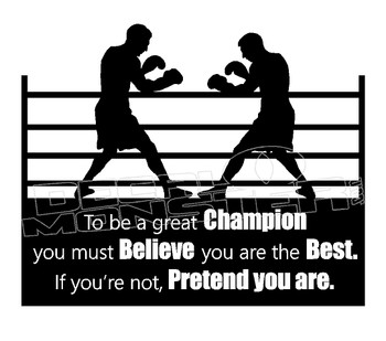 Boxing Motivation 1 Decal Sticker