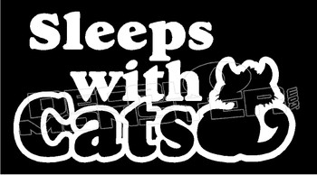 Sleeps with Cats Decal Sticker