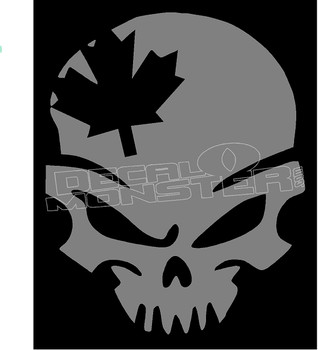 Canadian Military Skull Decal Sticker