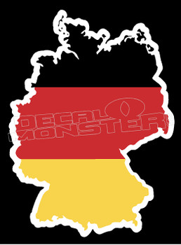 Germany Country Outline Decal Sticker