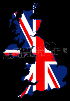 Great Britain Country Outline Decal Sticker