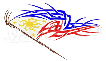 Phillipines Tribal Flag Decal Sticker