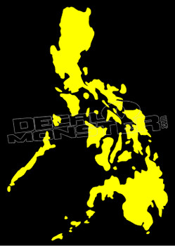 Philippines Country Silhouette Decal Sticker