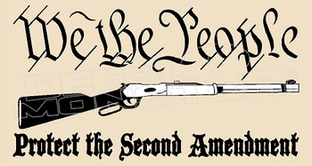 USA We The People Protect the Second Amendment Decal Sticker