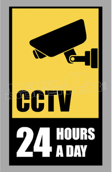 CCTV 24 Hours a Day Decal Sticker DM
