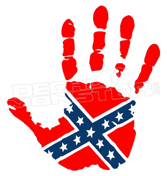 Confederate Hand Wave Decal Sticker DM