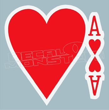 Ace of Hearts Decal Sticker DM