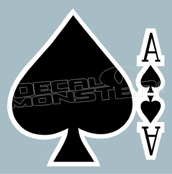 Ace of Spades Decal Sticker DM
