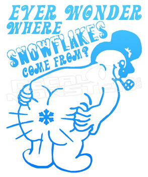 Ever Wonder Where Snowflakes come from Funny Decal Sticker DM