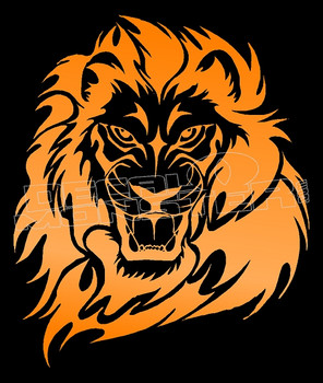 Angry Strong Tribal Lion Silhouette 2 Decal Sticker DM