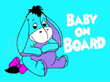 Cartoon Eeyore Baby on Board 4 Decal Sticker DM