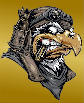 Badass War Falcon 1 Decal Sticker