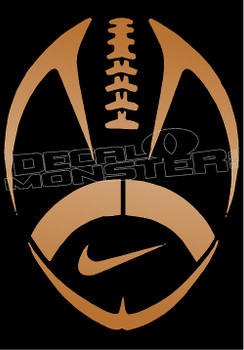 Nike Football Silhouette Decal Sticker
