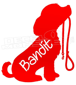Bandit Puppy Create your Text Decal Sticker