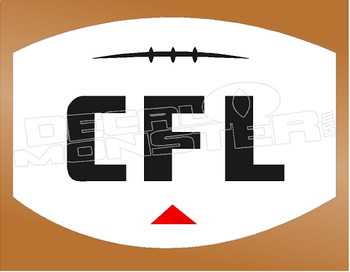 Football CFL Current New Logo Decal Sticker