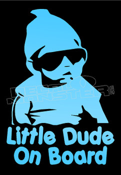 Hangover Baby Little Dude on Board Decal Sticker