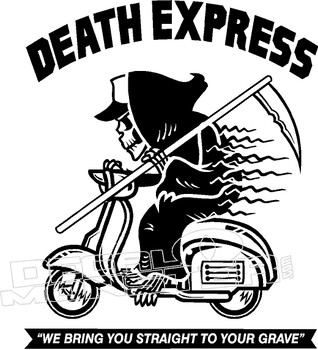 Death Express Reaper Scooter Decal Sticker