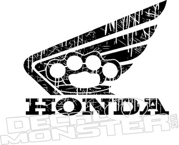Honda Wing Brass Knuckles Motorcycle Decal Sticker