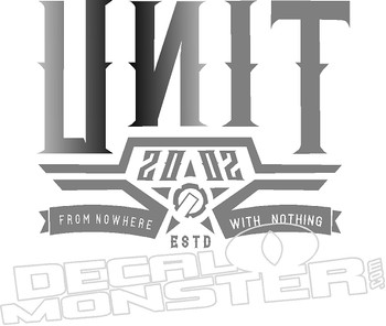 Unit 2002 From Nowhere With Nothing Motorcycle Decal Sticker