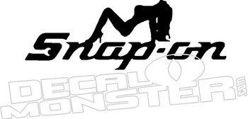 Snap On Sexy Girl Automotive Decal Sticker
