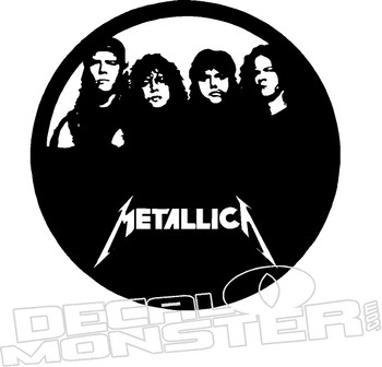 12057 Metallica Music Decal Stcker