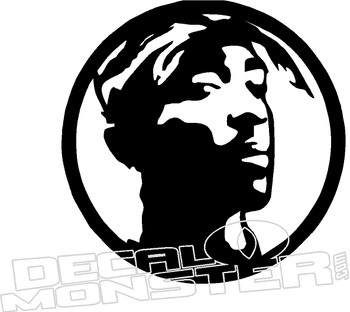 2Pac Shakur Music Decal Sticker