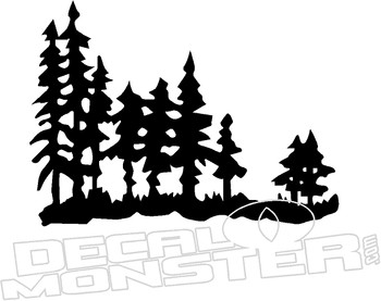 Tree Sihouette 1 Nature Decal Sticker