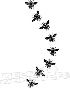 Bee Flying Decal Sticker