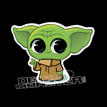Baby Yoda Cute Star Wars Decal Sticker DM