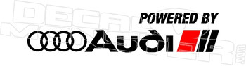 Powered by Audi Decal Sticker DM