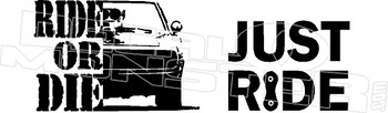 Ride or Die Charger2 Decal Sticker DM