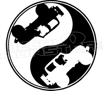 Jeep Ying Yang Decal Sticker