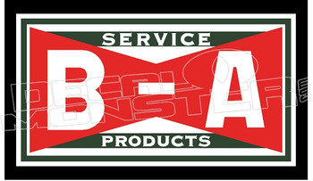 B-A Petroleum Service Products Decal Sticker