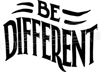 Be Different Decal Sticker