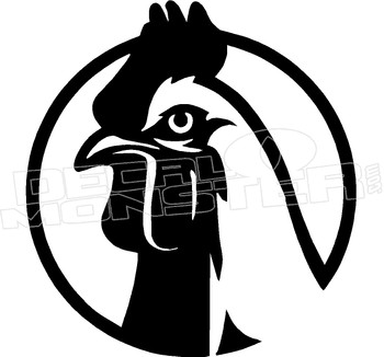 Chicken Rooster Cock Decal Sticker