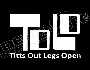 TOLO Titts Out Legs Open JDM Decal Sticker