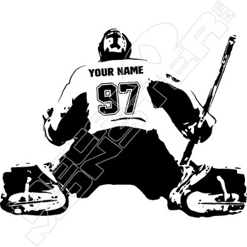 Goalie Silhouette Customize Your Player Decal Sticker
