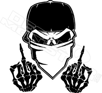 Bandit Outlaw with Middle Fingers Decal Sticker