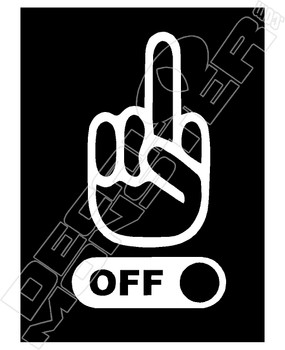 Fuck Off Switch Decal Sticker