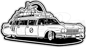 Ghostbusters Movie Ectomobile Car Decal Sticker