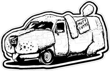 Mutt Cutts Dumb and Dumber Movie Dog Van Decal Sticker