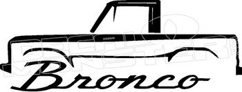 Ford Bronco Vintage 2 Decal Sticker