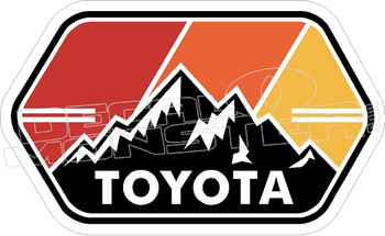 Toyota Truck Tacoma Tundra Mountains 2 Decal Sticker