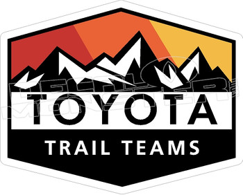 Toyota Truck Tacoma Tundra Mountains 4 Decal Sticker