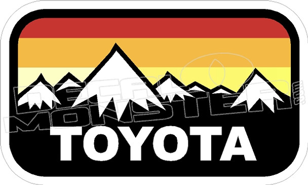 Toyota Truck Tacoma Tundra Mountains Decal Sticker