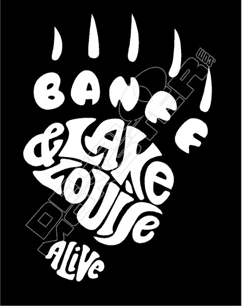 Banff Lack Louise Alive Decal Sticker