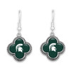 Michigan State Spartans Quatrefoil Earrings