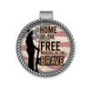 Military Visor Clip- Home of the Free Because of the Brave- Soldier