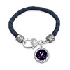 Virginia Cavaliers Bracelet- Harvey Leather Twisted Rope